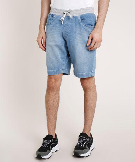 Bermuda-Jeans-Masculina-Slim-com-Cordao-Azul-Claro-9767318-Azul_Claro_1