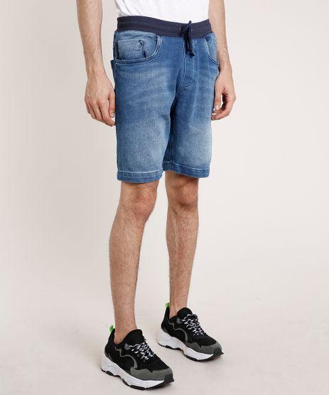 Bermuda-Jeans-Masculina-Slim-com-Cordao-Azul-Escuro-9767319-Azul_Escuro_1