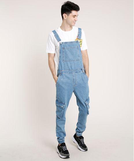 Macacao-Jeans-Masculino-Jogger-Skinny-Cargo-Azul-Claro-9757287-Azul_Claro_1