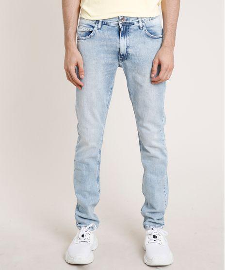 Calca-Jeans-Masculina-Slim-com-Puidos-Azul-Claro-9763746-Azul_Claro_1