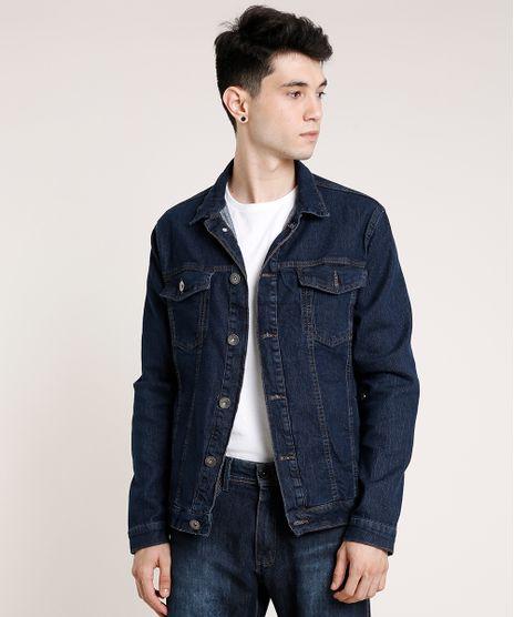 Jaqueta-Jeans-Masculina-com-Bolsos-Azul-Escuro-9779287-Azul_Escuro_1