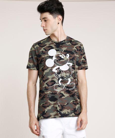 Camiseta-Masculina-Mickey-Estampada-Camuflada-Manga-Curta-Gola-Careca-Verde-Militar-9597336-Verde_Militar_1