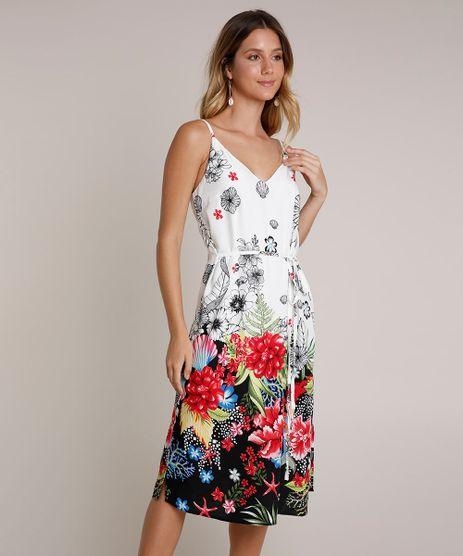 Vestido-Feminino-Midi-Estampado-Floral-Tropical-com-Fenda-Alcas-Finas-Off-White-9670501-Off_White_1