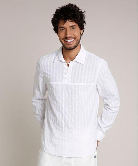 Bata-Masculina-Comfort-Texturizada-com-Botoes-Manga-Longa-Off-White-9642353-Off_White_1