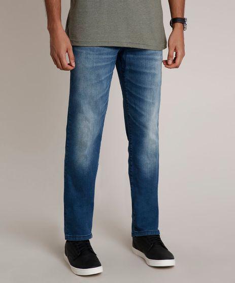 Calca-Jeans-Masculina-Reta-com-Bolsos-Azul-Medio-9791557-Azul_Medio_1