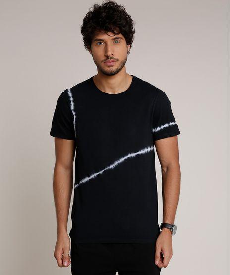 Camiseta-Masculina-Slim-Fit-Tie-Dye-Manga-Curta-Gola-Careca-Preta-9729536-Preto_1