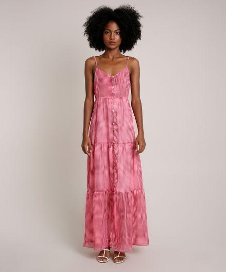 Vestido-Feminino-Mindset-Longo-Estampado-Xadrez-Vichy-Alcas-Finas-Rosa-9847434-Rosa_1
