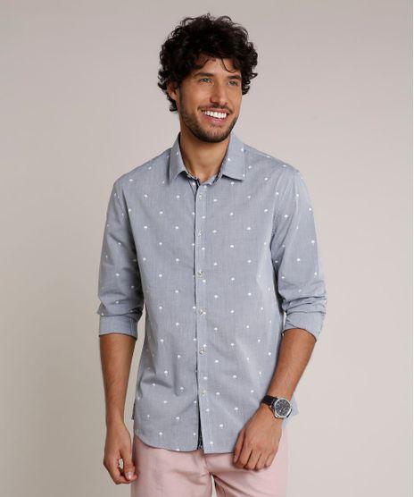 Camisa-Masculina-Slim-Estampada-de-Coqueiros-Manga-Longa-Cinza-Mescla-9645931-Cinza_Mescla_1