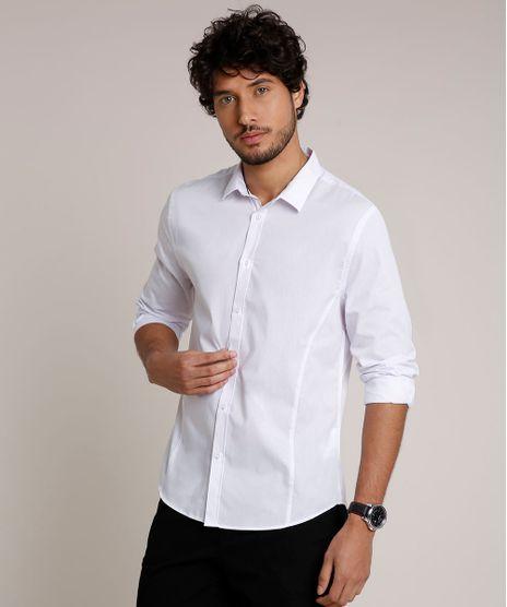 Camisa-Masculina-Slim-com-Vivo-Contrastante-Manga-Longa-Branca-9657163-Branco_1