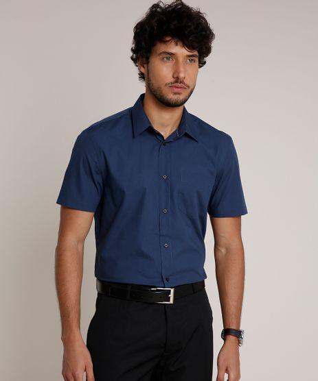 Camisa-Masculina-Comfort-com-Bolso-Manga-Curta-Azul-Marinho-9639465-Azul_Marinho_1