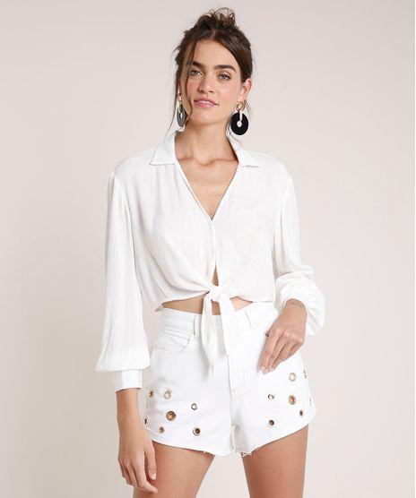 Camisa-Feminina-Agua-de-Coco-Cropped-Listrada-com-Lurex-Manga-Longa-Off-White-9677889-Off_White_1