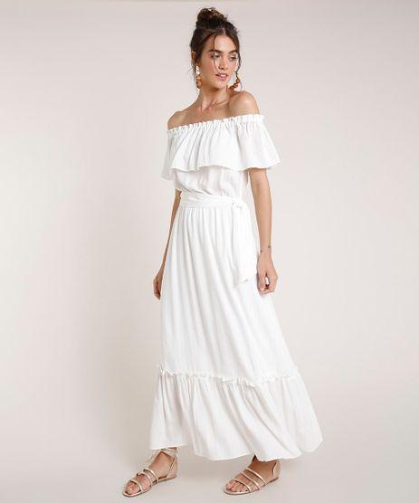 Vestido-Feminino-Agua-de-Coco-Longo-Ciganinha-Listrado-com-Lurex-Manga-Curta-Off-White-9677887-Off_White_1