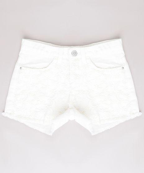 Short-de-Sarja-Infantil-com-Renda-Barra-Desfiada-Off-White-9751507-Off_White_1