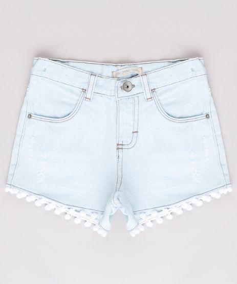 Short-Jeans-Infantil-com-Puidos-e-Pompom-Azul-Claro-9743124-Azul_Claro_1