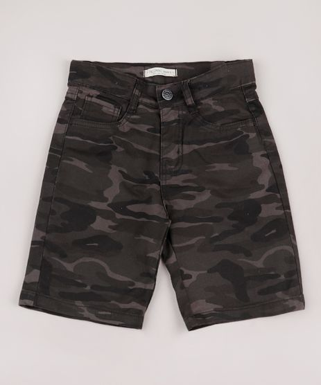 Bermuda-de-Sarja-Infantil-Estampada-Camuflada-Verde-Militar-9761827-Verde_Militar_1