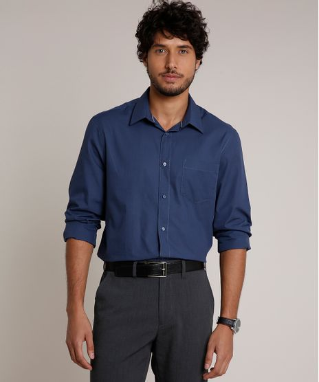 Camisa-Masculina-Comfort-com-Bolso-Manga-Longa-Azul-Marinho-8826559-Azul_Marinho_1_1