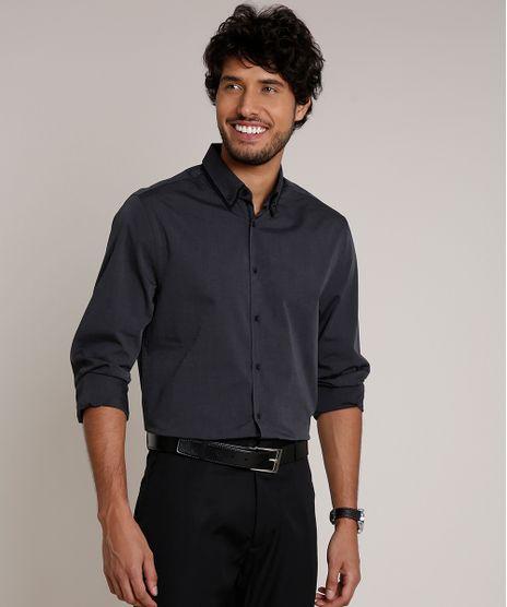 Camisa-Masculina-Comfort-Manga-Longa-Chumbo-9509135-Chumbo_1
