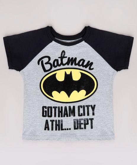 Camiseta-Infantil-Batman-Raglan-Manga-Curta--Cinza-Mescla-9629760-Cinza_Mescla_1