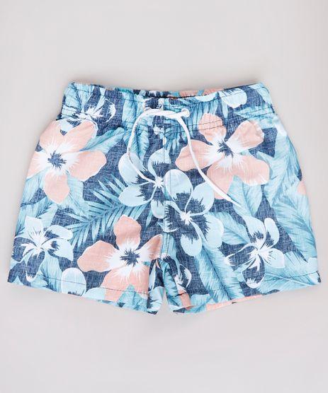 Bermuda-Surf-Infantil-Estampada-Floral--Azul-Marinho-9667561-Azul_Marinho_1