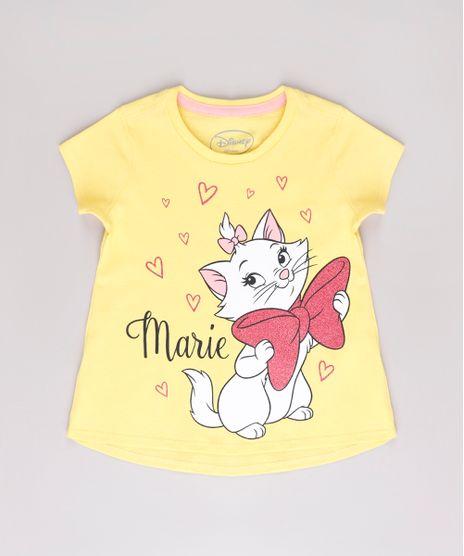 Blusa-Infantil-Marie-com-Brilho-Manga-Curta-Amarela-9742261-Amarelo_1