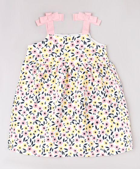 Vestido-Infantil-Estampado-Floral-com-Textura-e-Laco-Alcas-Finas-Off-White-9664218-Off_White_1