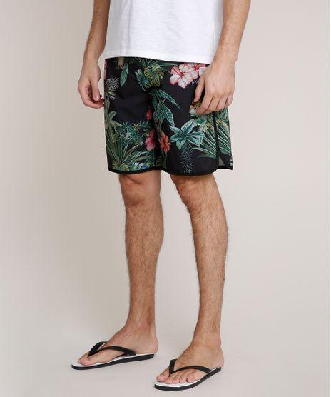 Bermuda-Surf-Masculina-Blueman-Estampada-Folhagem-Tropical--Preta-9702378-Preto_1