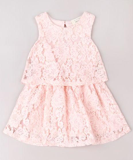 Vestido-Infantil-em-Renda-com-Recorte-Sem-Manga-Rosa-9583064-Rosa_1