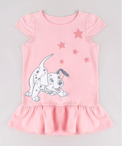 Vestido-Infantil-Dalmatas-com-Babado-Manga-Curta-Rosa-9742266-Rosa_1