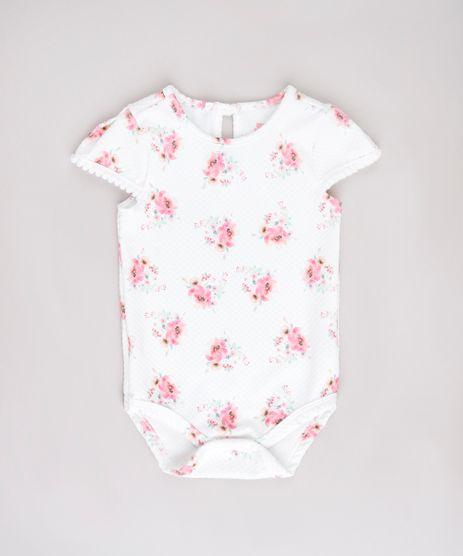 Body-Infantil-Estampado-Floral-com-Textura-e-Pompom-Manga-Curta-Branco-9790271-Branco_1