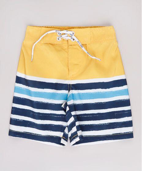 Bermuda-Surf-Infantil-Listrada-Amarela-9667557-Amarelo_1