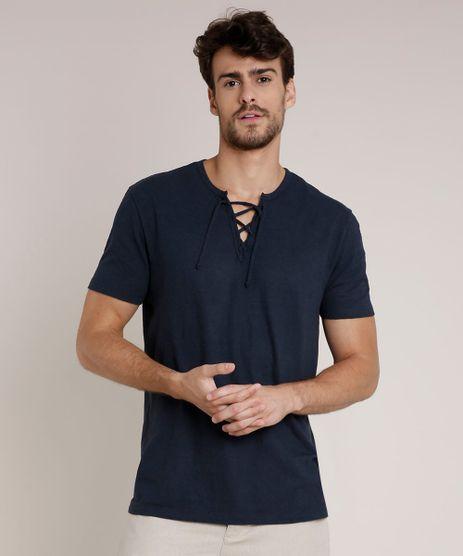 Camiseta-Masculina-Agua-de-Coco-com-Amarracao-Manga-Curta-Gola-Careca-Azul-Marinho-9702015-Azul_Marinho_1