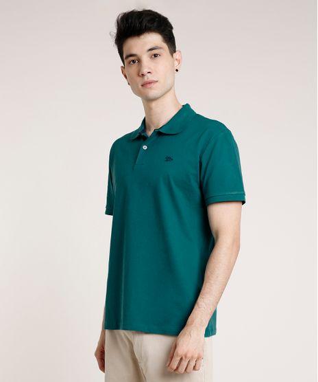 Polo-Masculina-Basica-Comfort-em-Piquet-Manga-Curta-Verde-9725323-Verde_1