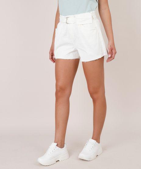 Short-de-Sarja-Feminino-Clochard-com-Cinto-e-Pochete-Barra-Desfiada-Off-White-9753721-Off_White_1