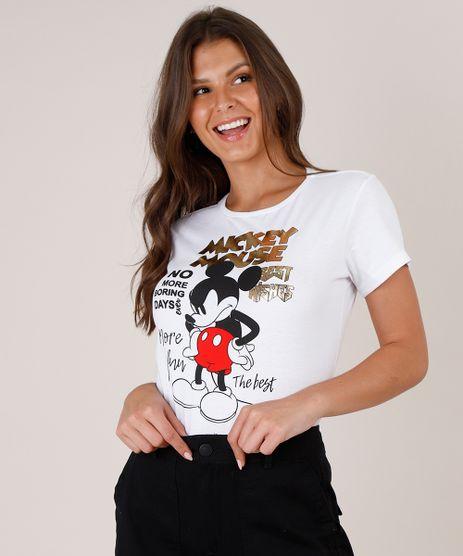 Blusa-Feminina-Mickey-Mouse-Manga-Curta-Decote-Redondo-Off-White-9788577-Off_White_1