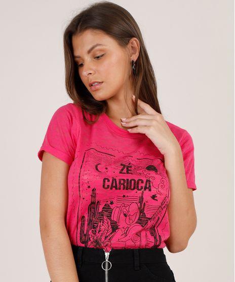 Blusa-Feminina-Ze-Carioca-Manga-Curta-Decote-Redondo-Pink-9799323-Pink_1