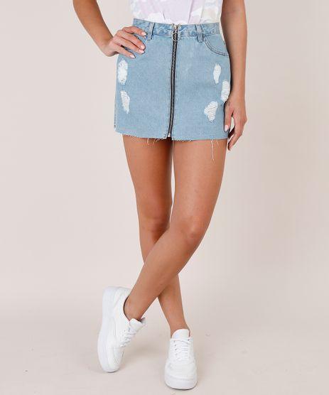 Saia-Jeans-Feminina-Curta-Destroyed-com-Ziper-de-Argola-Azul-Claro-9692016-Azul_Claro_1