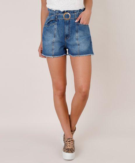 Short-Jeans-Feminino-Clochard-com-Recorte-e-Cinto-Barra-Desfiada-Azul-Escuro-9753718-Azul_Escuro_1