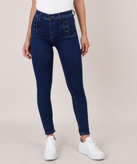 Calca-Jeans-Feminina-Sawary-Super-Skinny-com-Botoes-Azul-Escuro-9835998-Azul_Escuro_1