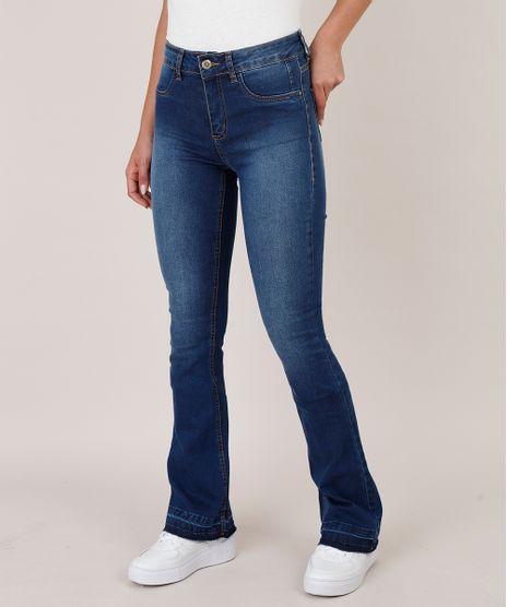 Calca-Jeans-Feminina-Sawary-Flare-Barra-Desfeita-Azul-Escuro-9811690-Azul_Escuro_1