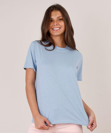 Blusa-Feminina-Basica-Ampla-Manga-Curta-Decote-Redondo-Azul-Claro-9797435-Azul_Claro_1