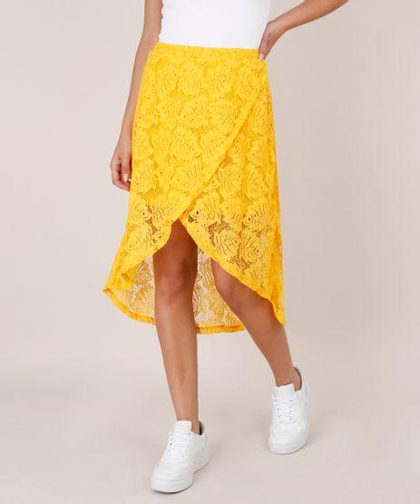 Saia-Feminina-Midi-em-Renda-com-Transpasse-Amarela-9623010-Amarelo_1