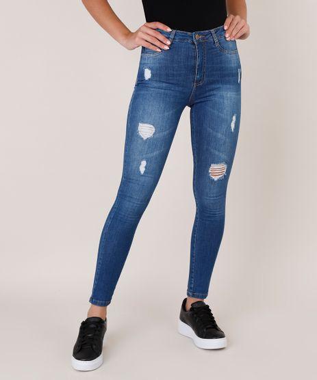 Calca-Jeans-Feminina-Sawary-Super-Skinny-Super-Lipo-com-Rasgos-Azul-Medio-9811642-Azul_Medio_1