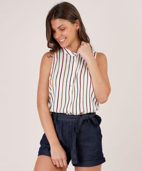 Camisa-Feminina-Ampla-Maquinetada-Listrada-Sem-Manga-Gola-Padre-Off-White-9536393-Off_White_1
