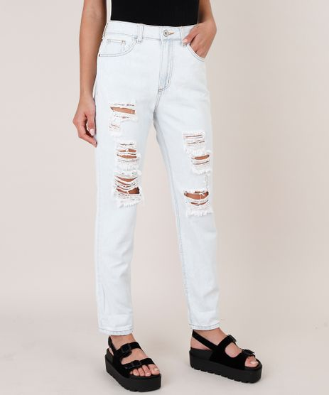 Calca-Jeans-Feminina-Mom-Destroyed-Azul-Claro-9828361-Azul_Claro_1