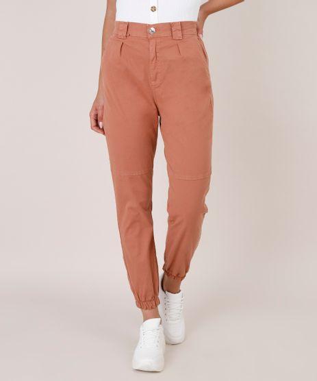 Calca-Jeans-Feminina-Jogger-com-Bolsos--Cobre-9797117-Cobre_1