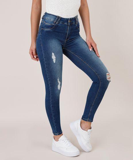 Calca-Jeans-Feminina-Sawary-Super-Skinny-com-Rasgos-Azul-Escuro-9619276-Azul_Escuro_1