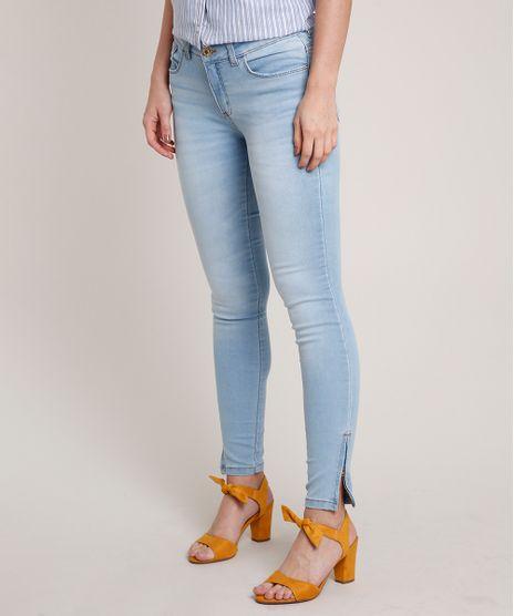 Calca-Jeans-Feminina-Super-Skinny-Com-Ziper-na-Barra-Azul-Claro-9530325-Azul_Claro_1