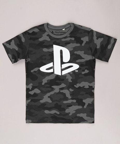 Camiseta-Infantil-PlayStation-Estampada-Camuflada-Manga-Curta-Chumbo-9732796-Chumbo_1