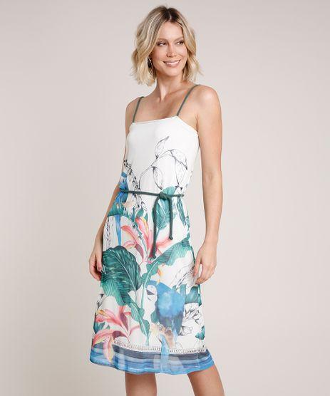 Vestido-Feminino-em-Tule-Estampado-de-Tucano-Alca-Fina-com-Cinto-Off-White-9706147-Off_White_1