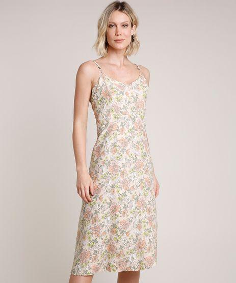 Vestido-Feminino-Midi-Estampado-Floral-Alca-Fina-Decote-V-Bege-Claro-9653556-Bege_Claro_1
